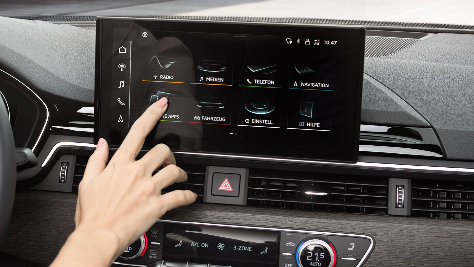 MMI touch display in the Audi A5 Sportback