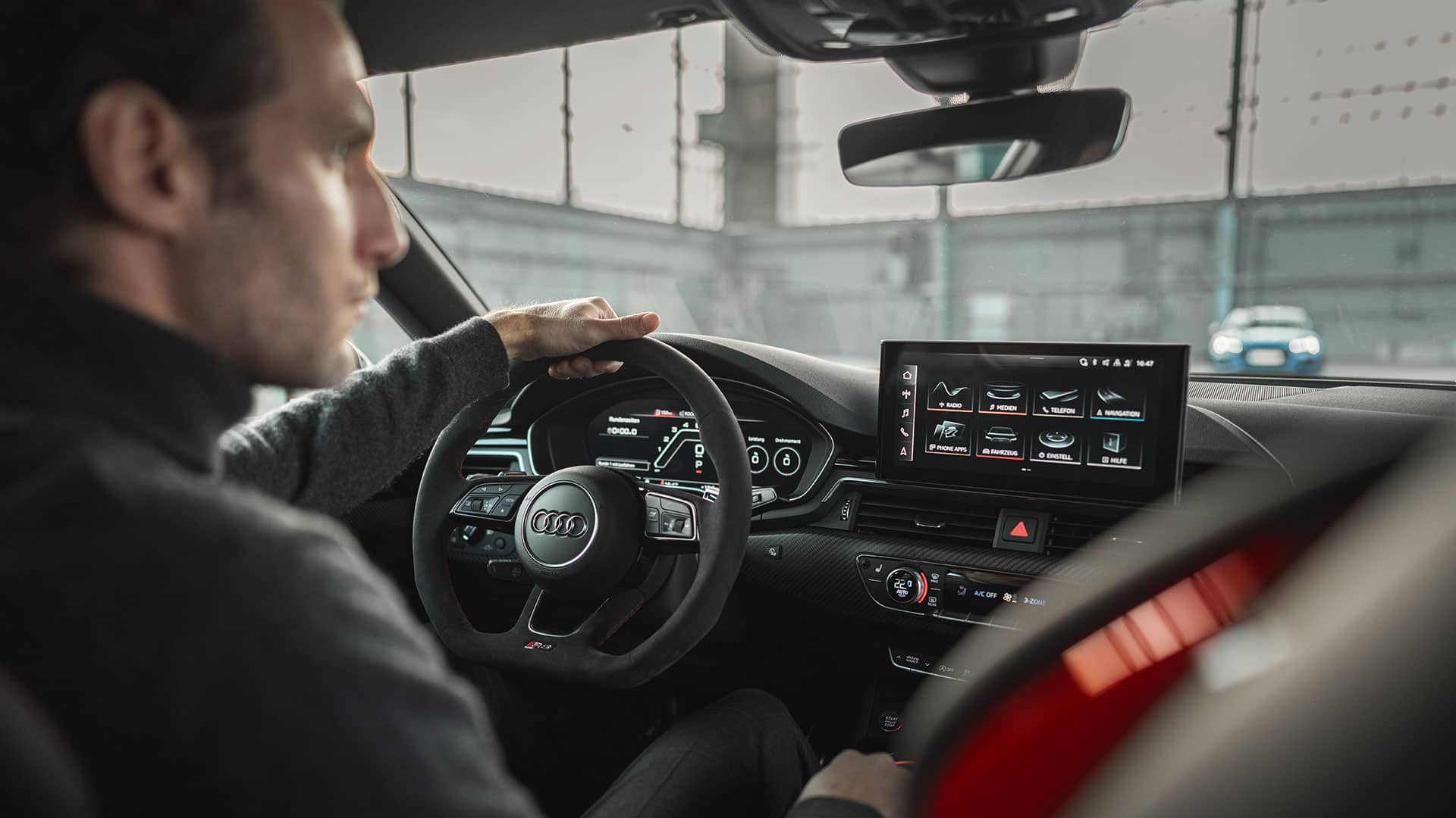 Cockpit in the Audi RS 5 Sportback